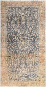 Brown and Light Blue Antique Persian Khorassan Oversized Carpet 48382 Nazmiyal