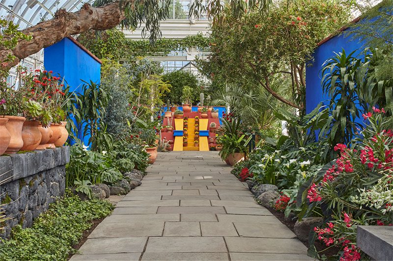 View of Frida Kahlo Exhibit at NY Botanical Gardens | Nazmiyal