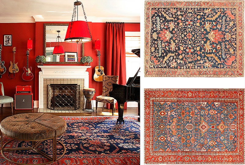 Antique Persian Oriental Rugs in San Francisco Interiors by Nazmiyal