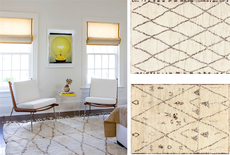San Francisco Moroccan Rugs in Home Interiors Nazmiyal