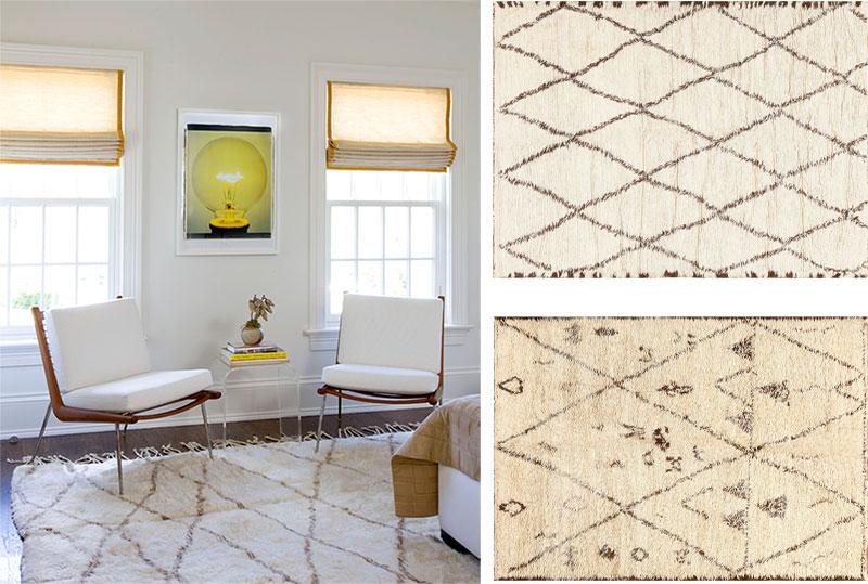 San Francisco Moroccan Rugs in Home Interiors Nazmiyal