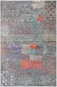 Vintage Paul Klee Carpet 48495 Detail/Large View