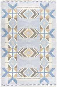 Vintage Scandinavian Kilim by Ingegerd Silow 48541 Nazmiyal