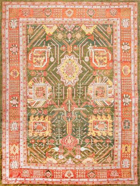 Nazmiyal Vintage Turkish Oushak Carpet 47403