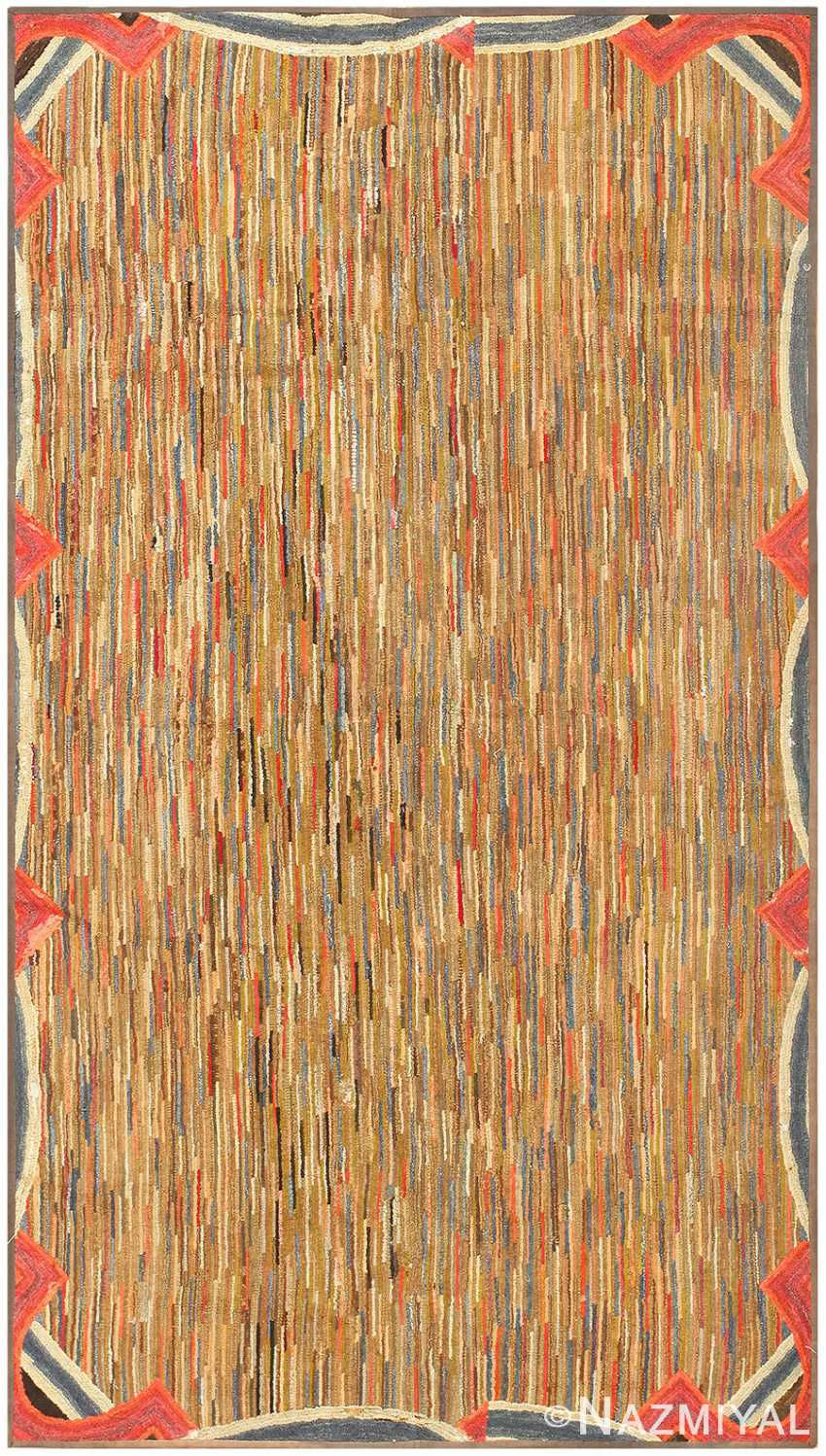 Antique American Hooked Rug 50289 Detail/Large View
