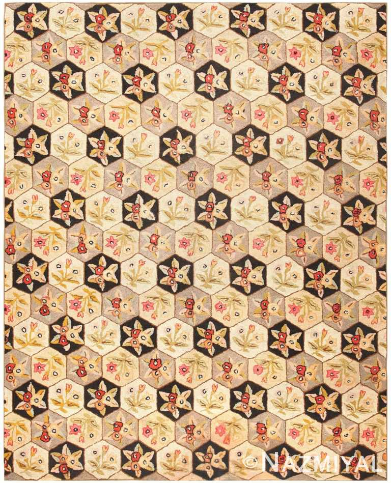 Antique American Hooked Rug 50306