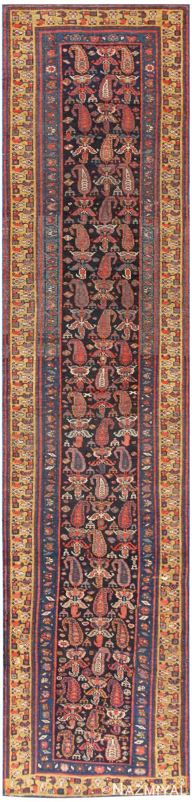 Antique Bidjar Persian Runner Rug 50280 Nazmiyal