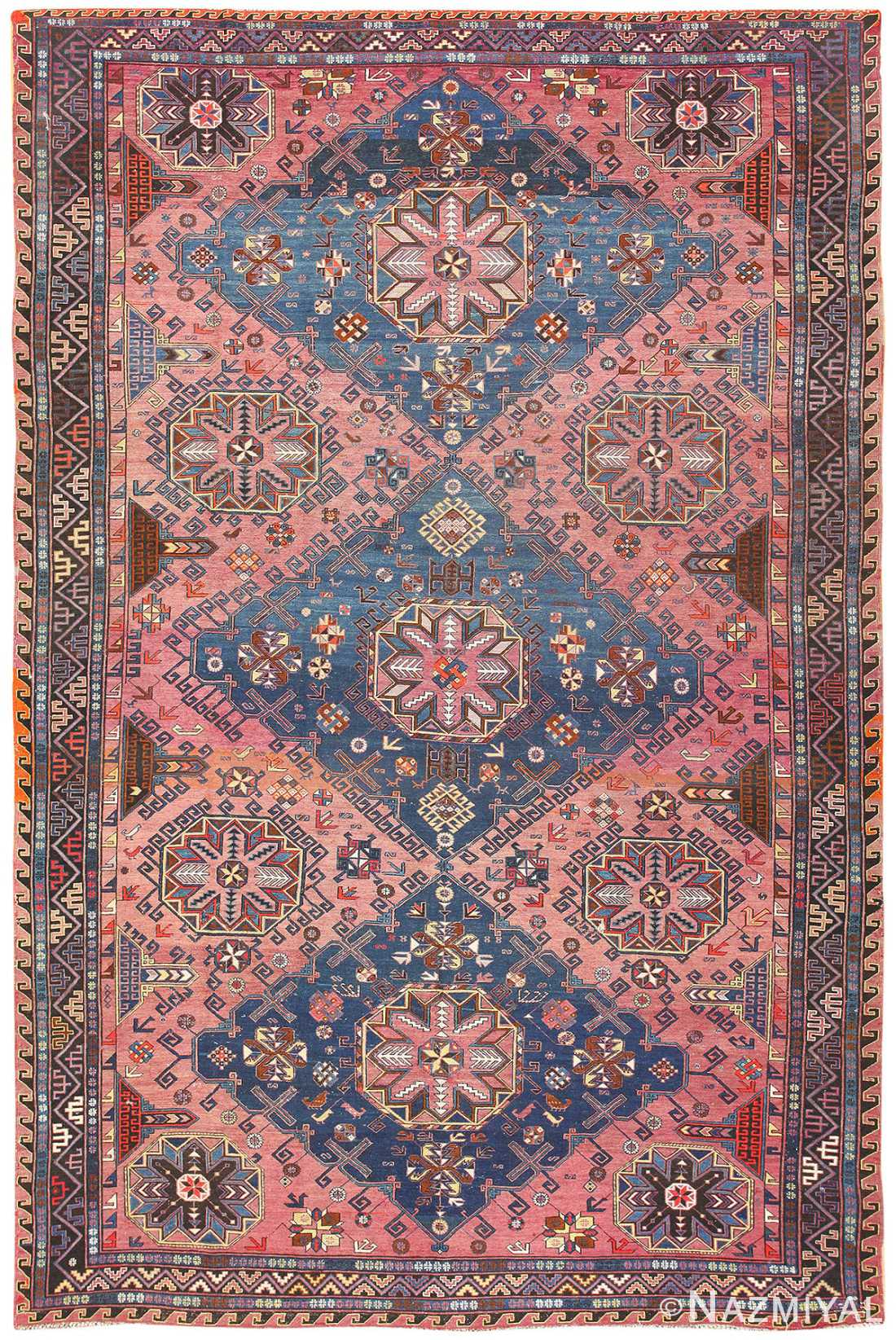 Antique Caucasian Soumak Rug 50281 Detail Large View