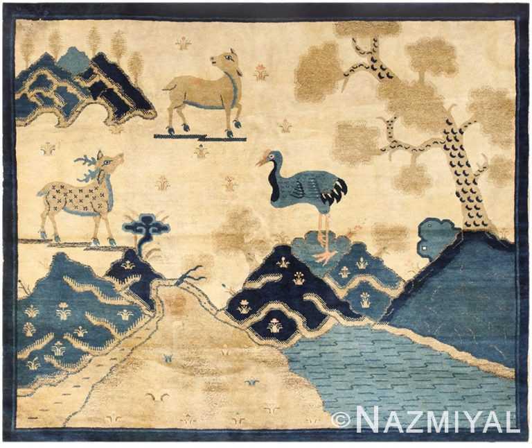 Chinese Animal Carpet 48434 Nazmiyal Antique Rugs