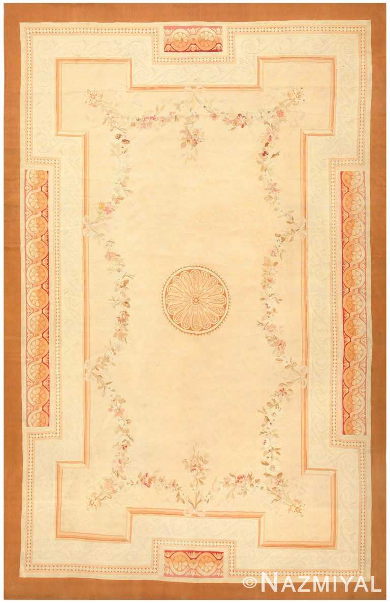 Antique French Aubusson Rug 50295