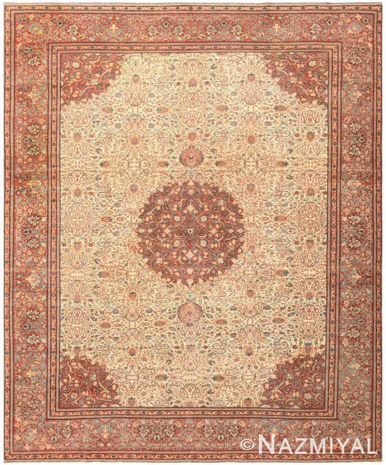 Antique Haji Jalili Persian Tabriz Carpet 50312