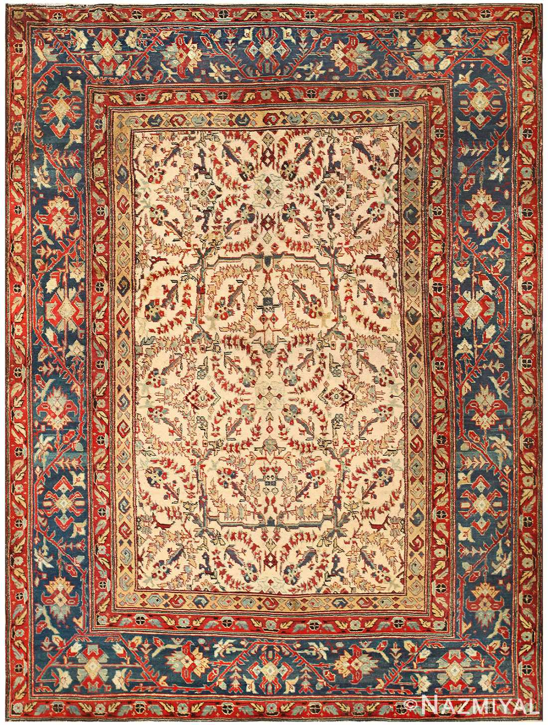 Antique Indian Agra Rug 50220 Detail/Large View