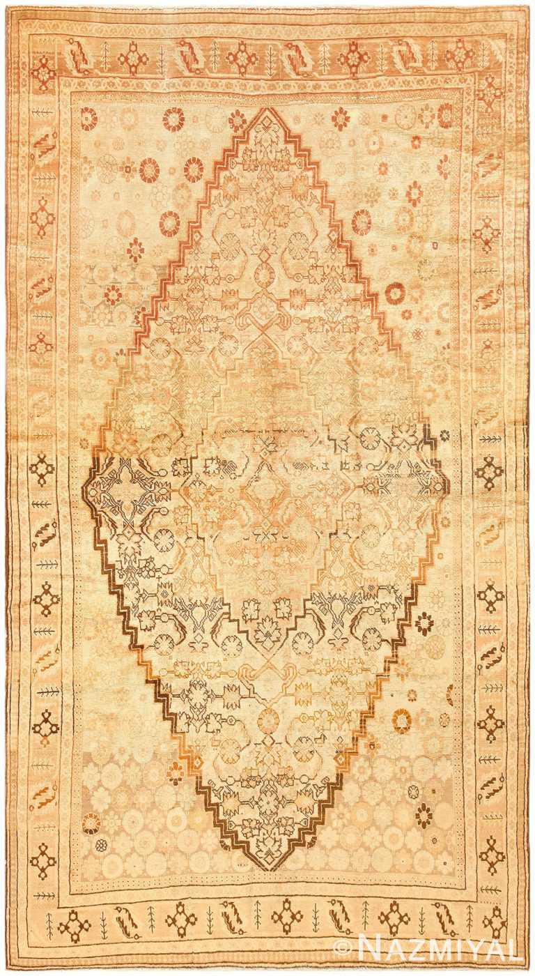 Soft Colored Antique Tribal Khotan Area Rug #50325 by Nazmiyal Antique Rugs