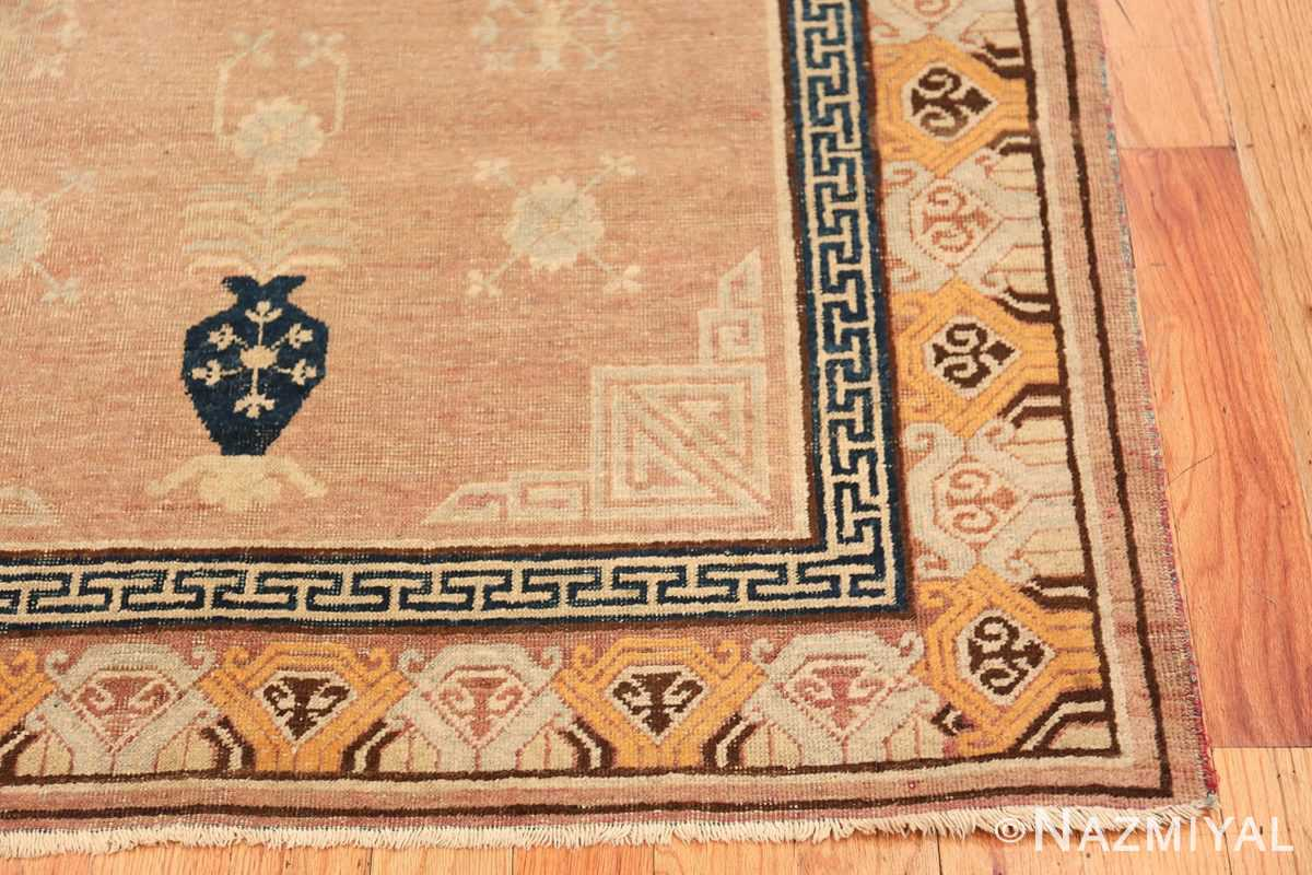 Antique Khotan Rug From East Turkestan 50305 Side Corner Nazmiyal