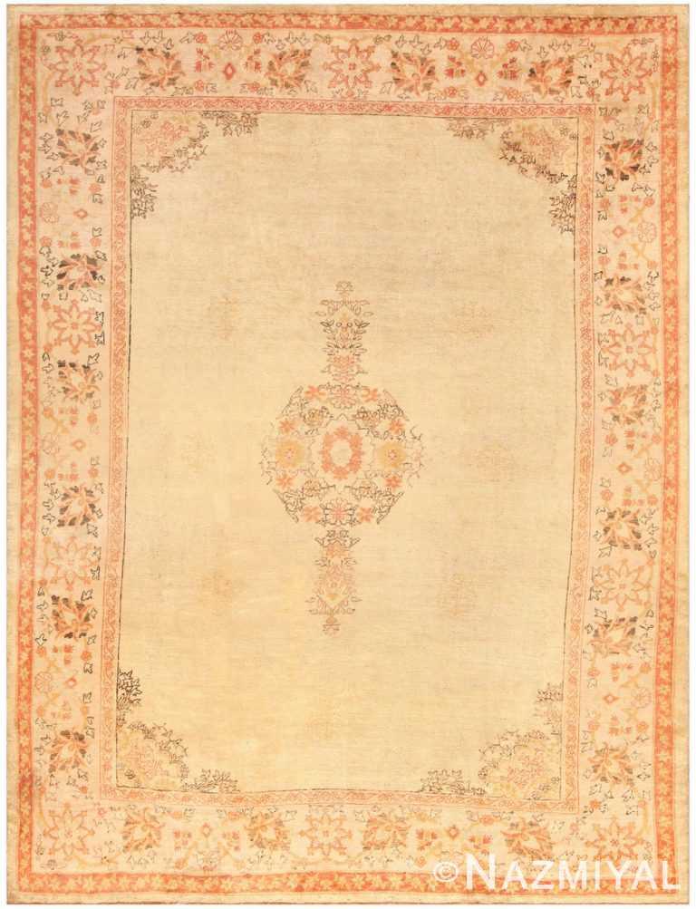 Antique Oushak Room Sized Turkish Rug 50299