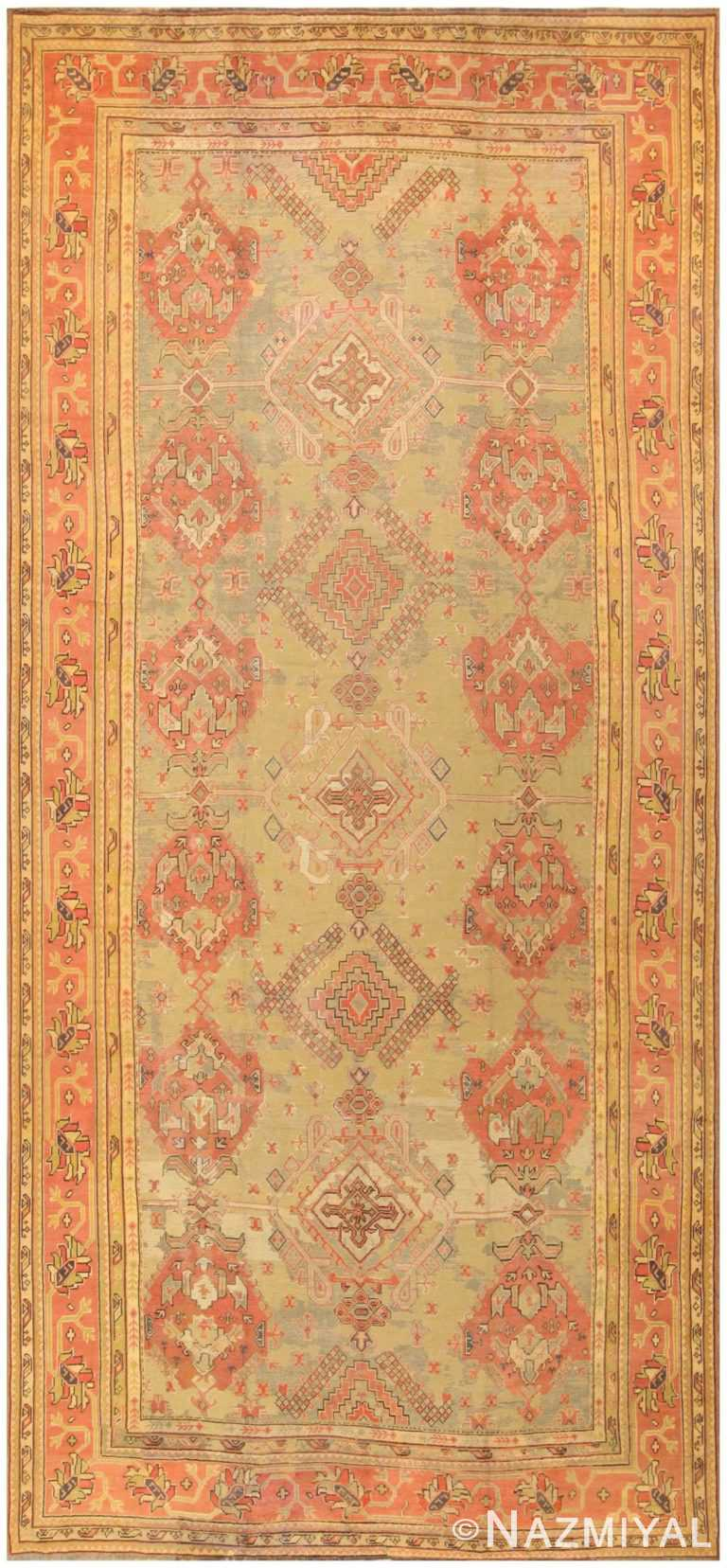 Antique Oversized Turkish Oushak Rug 50239 Nazmiyal