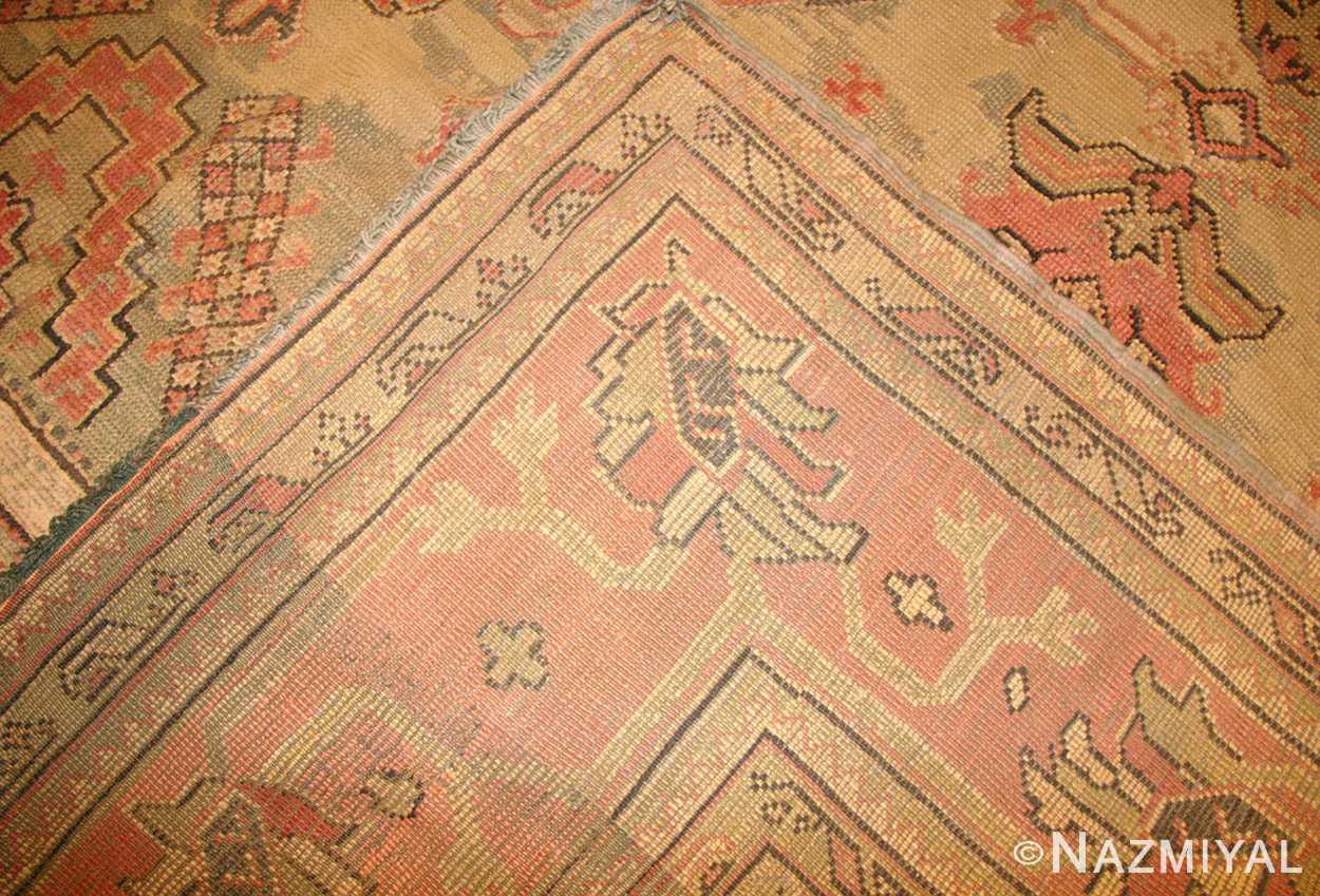 antique oversized turkish oushak rug 50239 weave Nazmiyal
