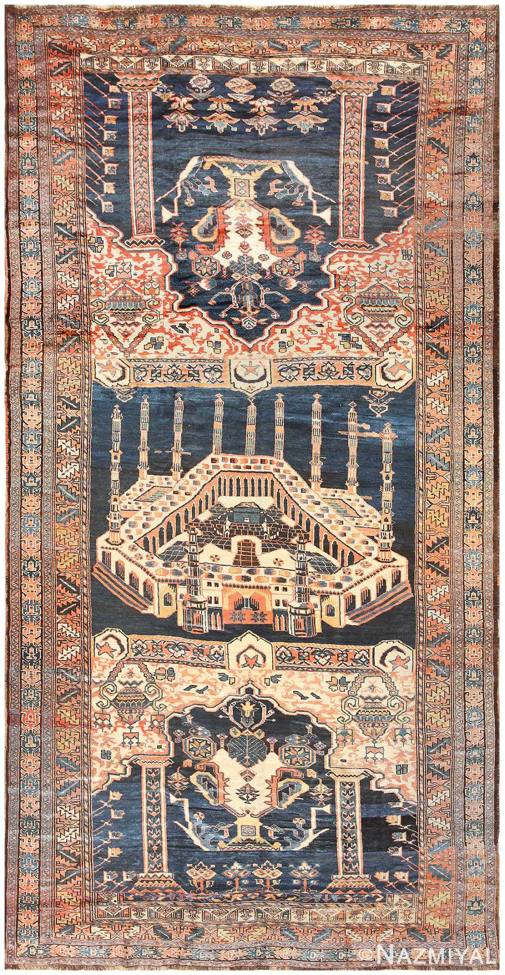 Antique Persian Kourdish Carpet 50266 Nazmiyal