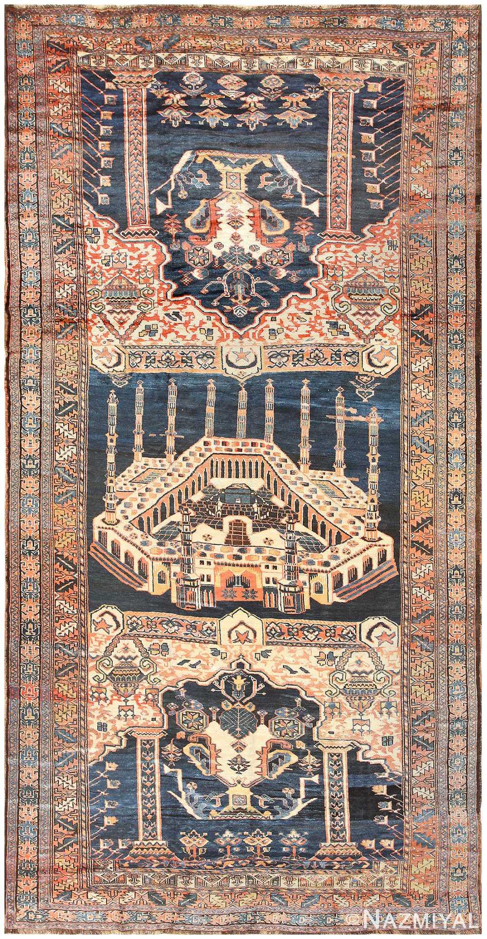 Antique Persian Kourdish Carpet 50266 Nazmiyal