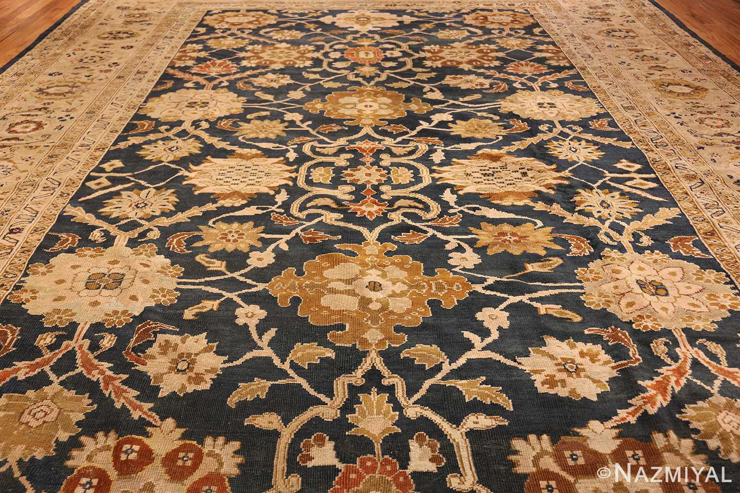 antique persian large scale ziegler sultanabad carpet 50198 field Nazmiyal