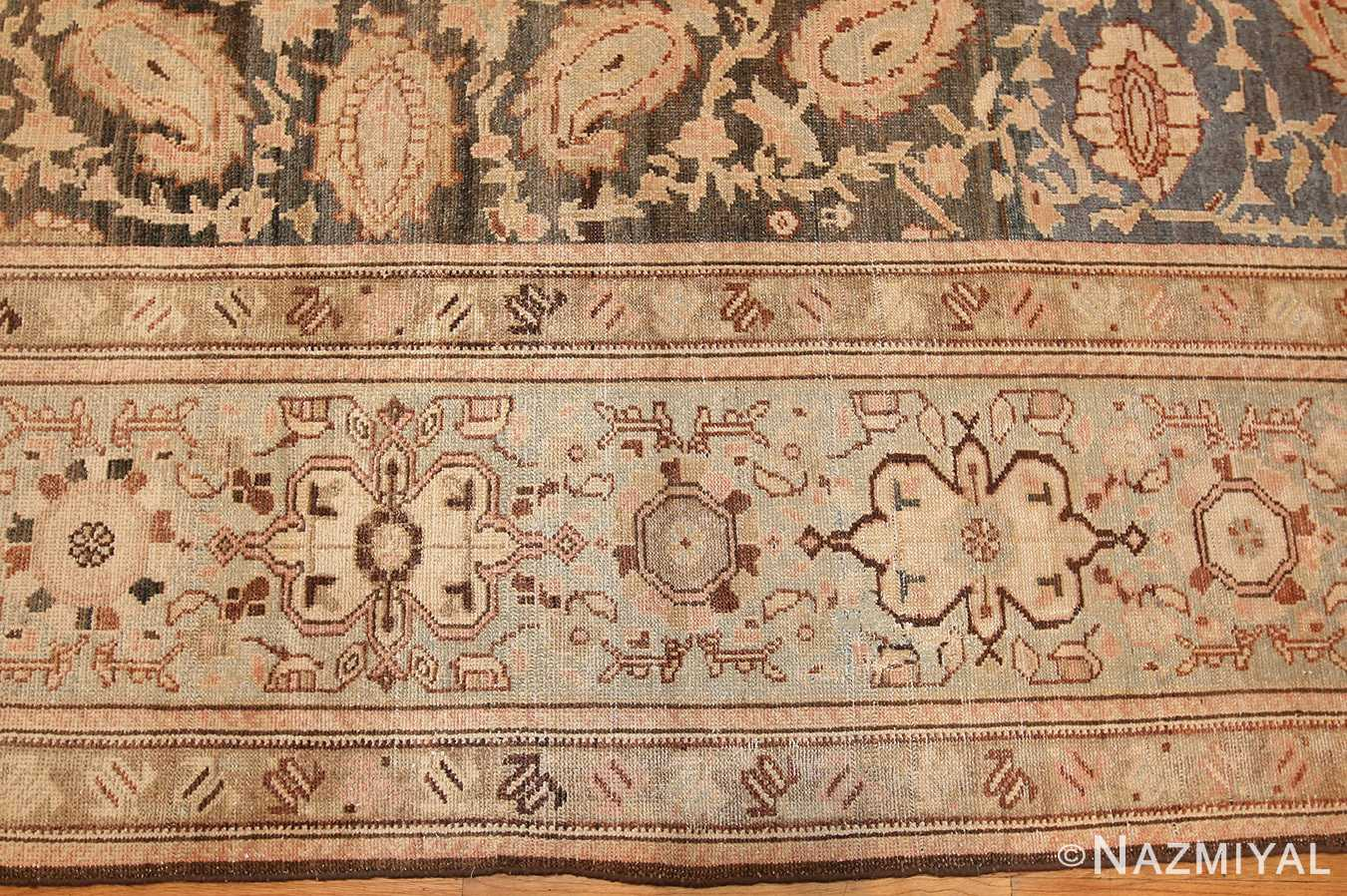 antique persian malayer carpet 50232 border Nazmiyal