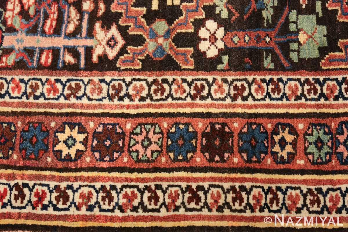 antique persian shrub design bidjar carpet 50267 closeup Nazmiyal
