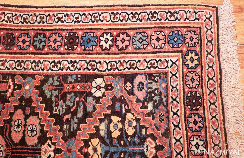 antique persian shrub design bidjar carpet 50267 corner Nazmiyal