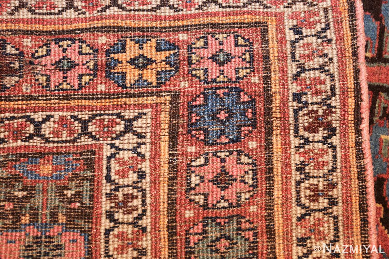 antique persian shrub design bidjar carpet 50267 weave Nazmiyal
