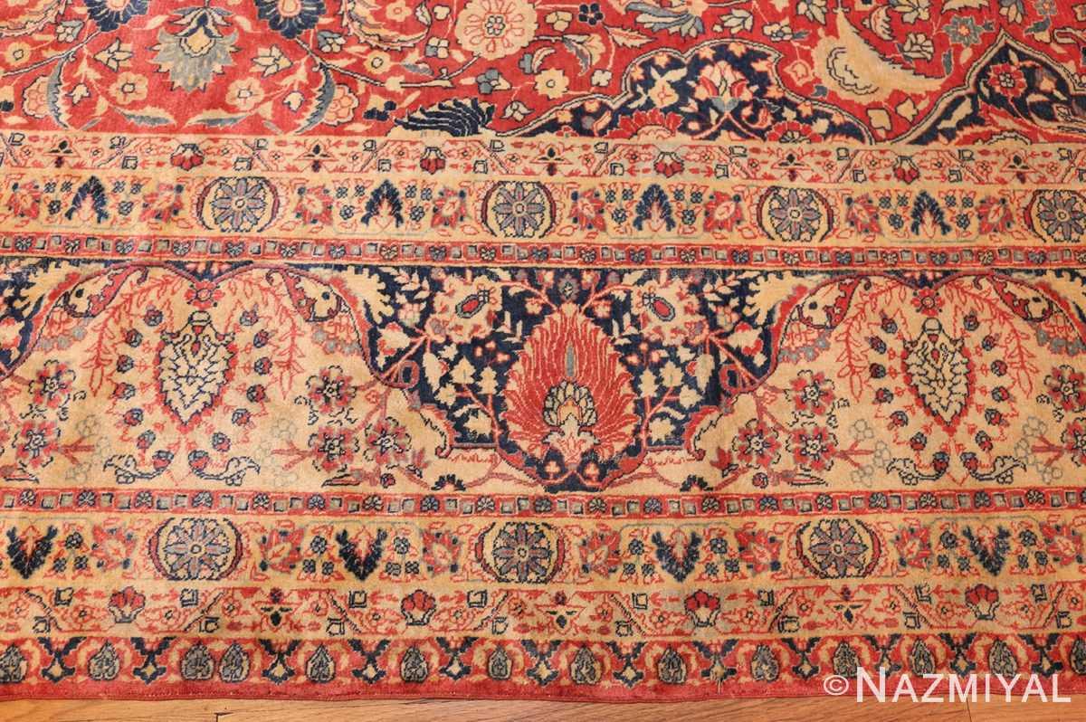 antique persian tabriz carpet 50313 border Nazmiyal