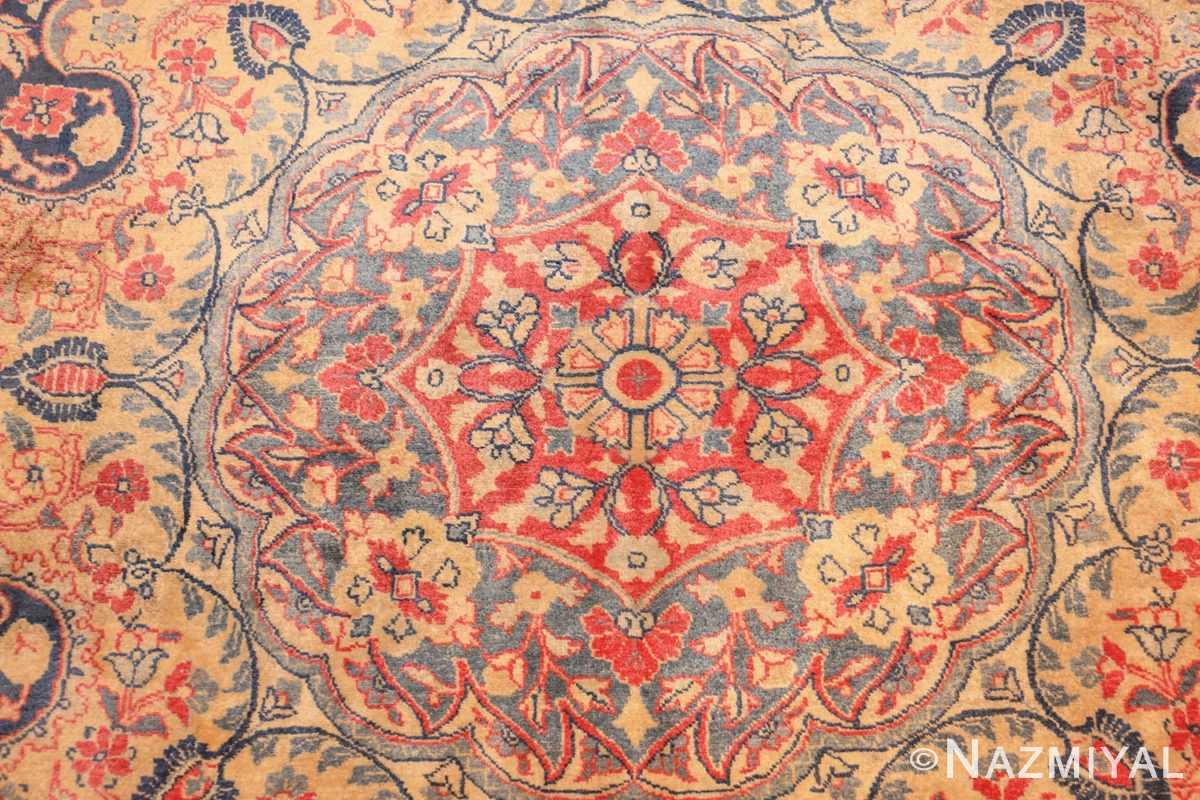 antique persian tabriz carpet 50313 center Nazmiyal