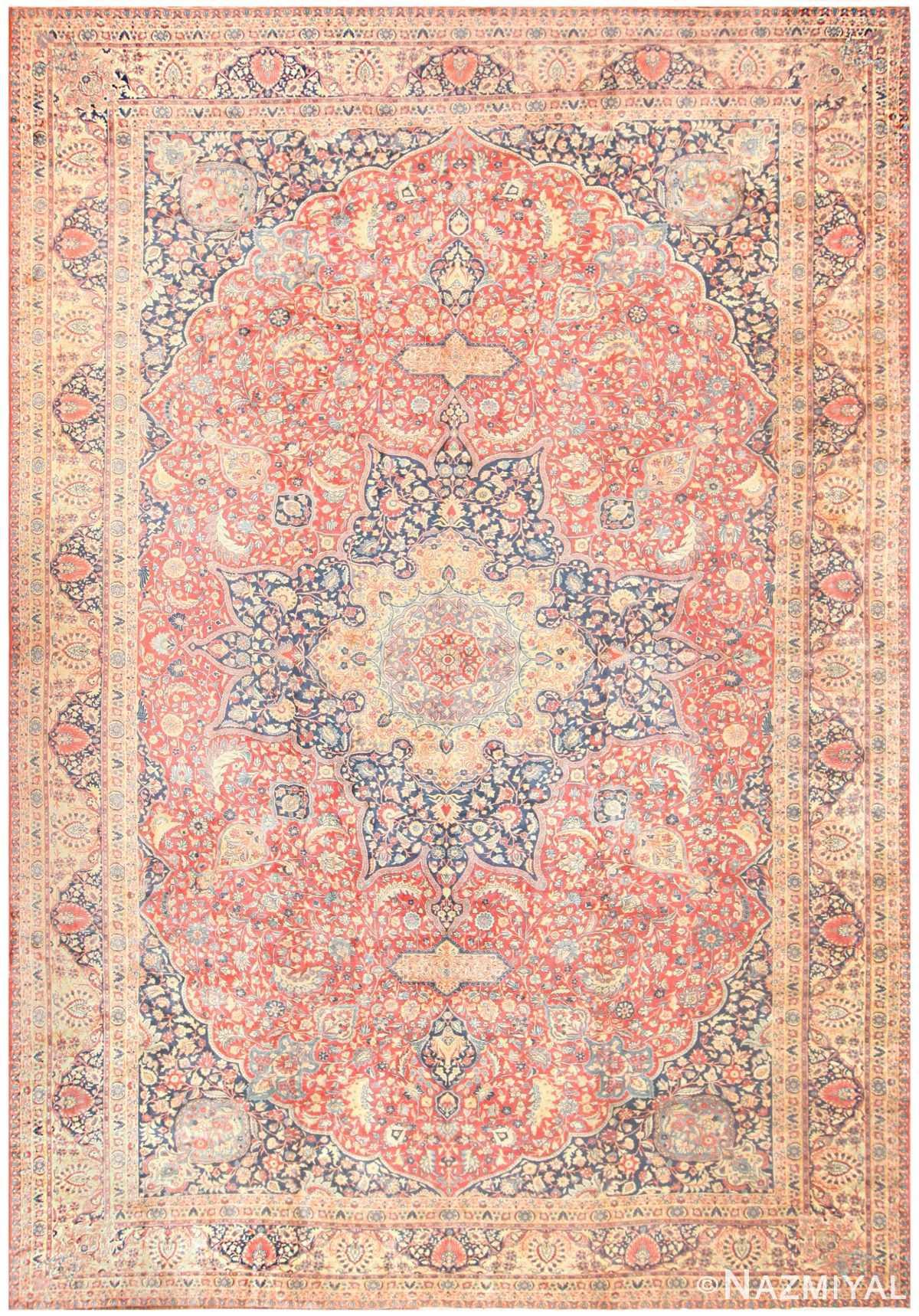 Antique Persian Tabriz Carpet 50313 Nazmiyal