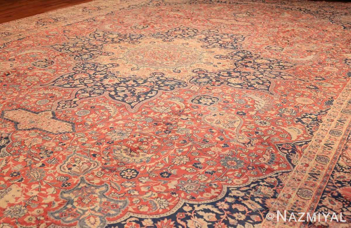 antique persian tabriz carpet 50313 side Nazmiyal