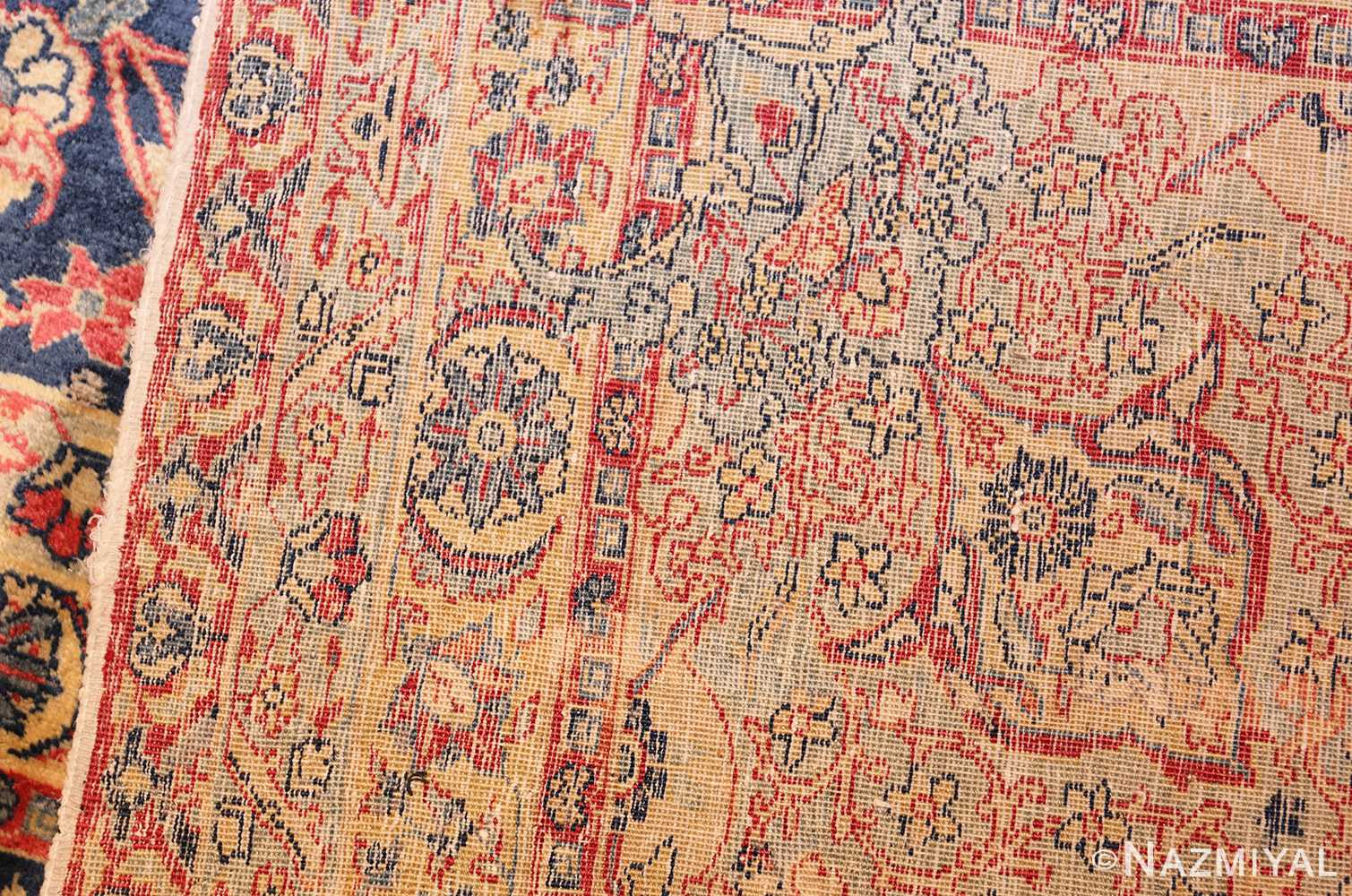 antique persian tabriz carpet 50313 weave Nazmiyal