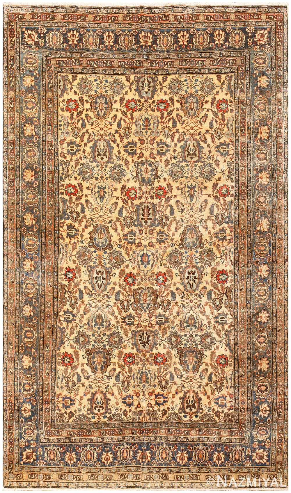 Antique Persian Tabriz Rug 50155 Detail/Large View