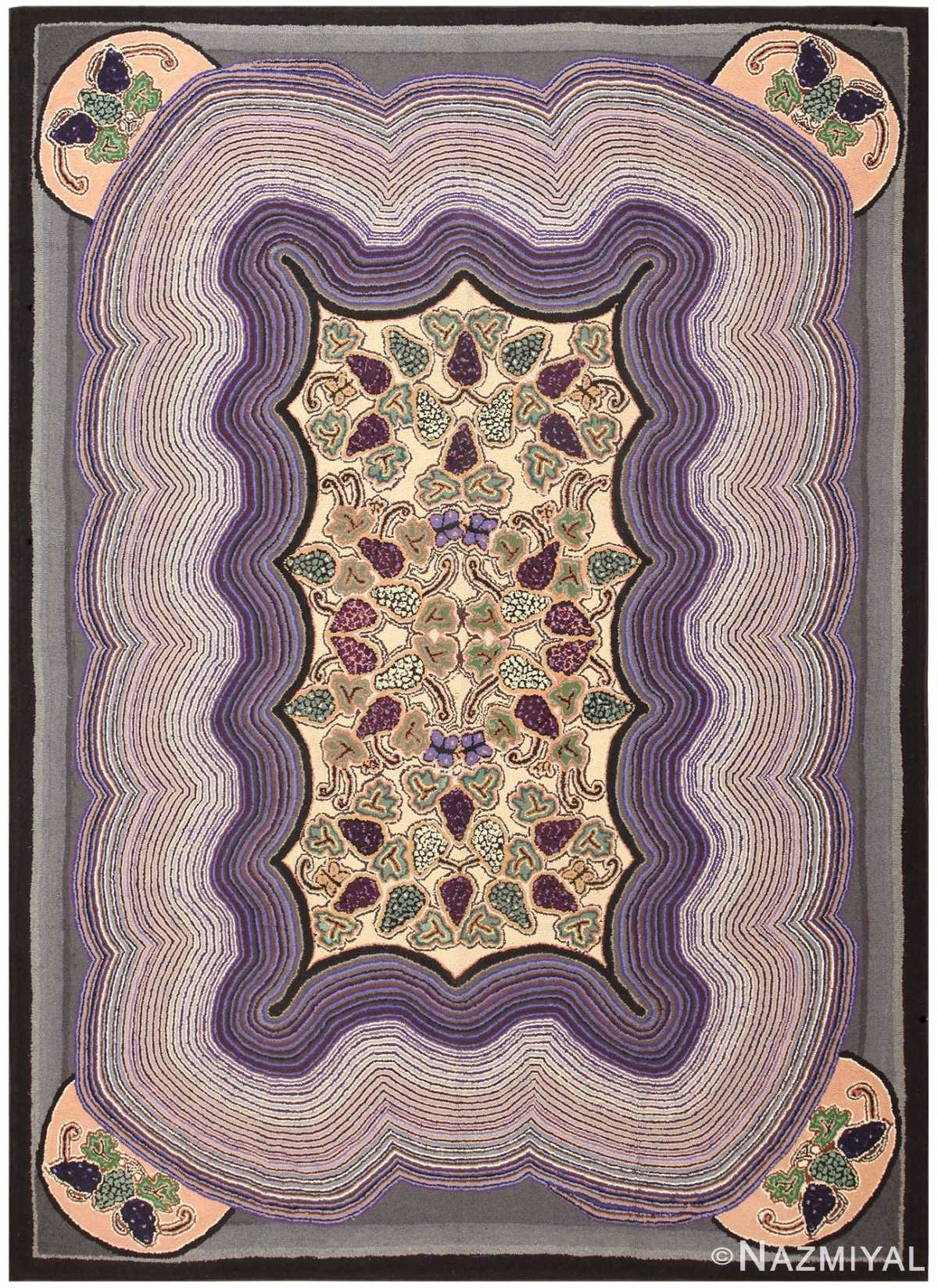 Antique Room Sized American Hooked Rug 50302