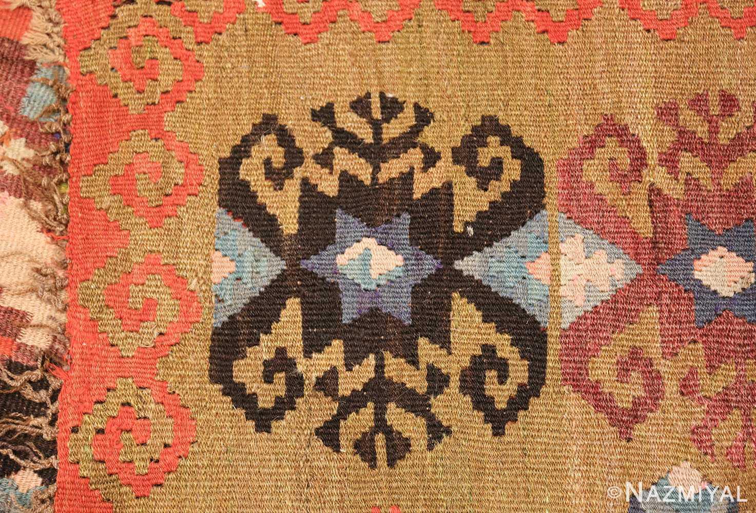 antique room sized besserabian carpet 50187 knots Nazmiyal