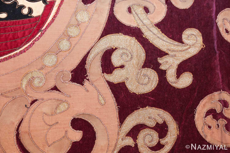 antique spanish tapestry with medallion 50249 shiny Nazmiyal