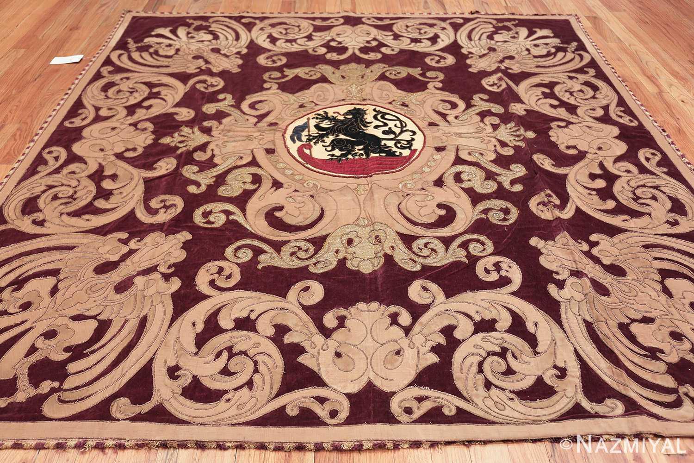 antique spanish tapestry with medallion 50249 whole Nazmiyal