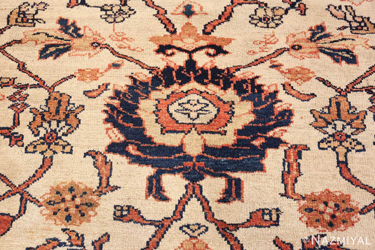 antique sultanabad persian carpet 50282 blue Nazmiyal