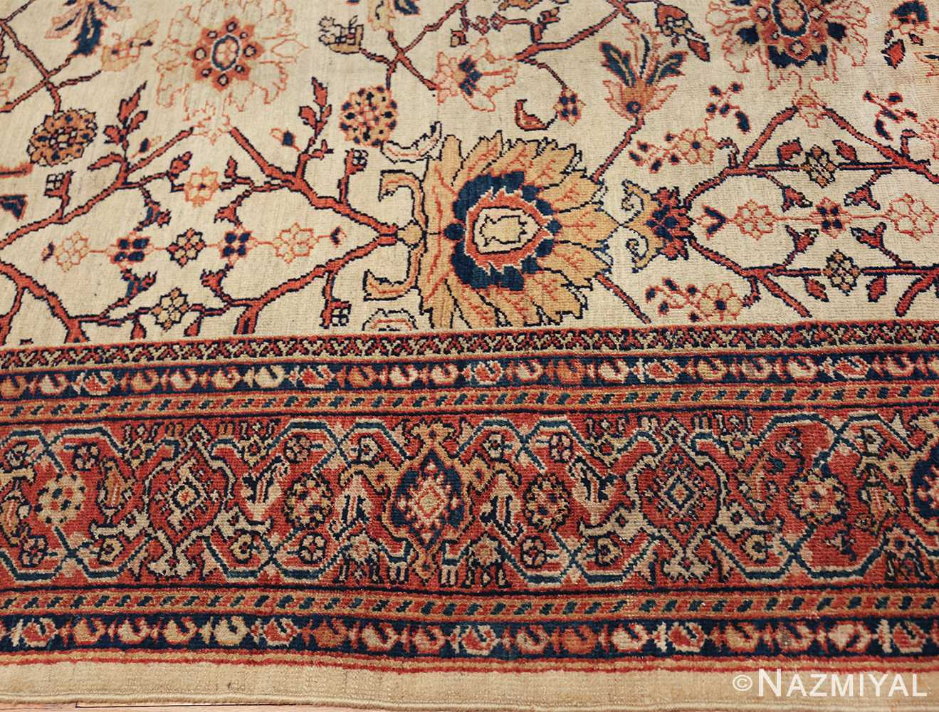 antique sultanabad persian carpet 50282 border Nazmiyal