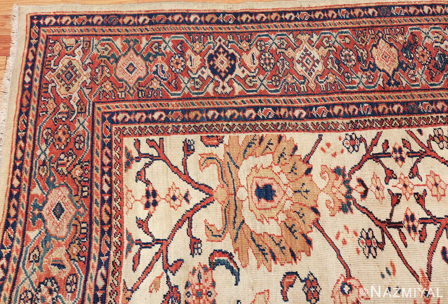 antique sultanabad persian carpet 50282 corner Nazmiyal