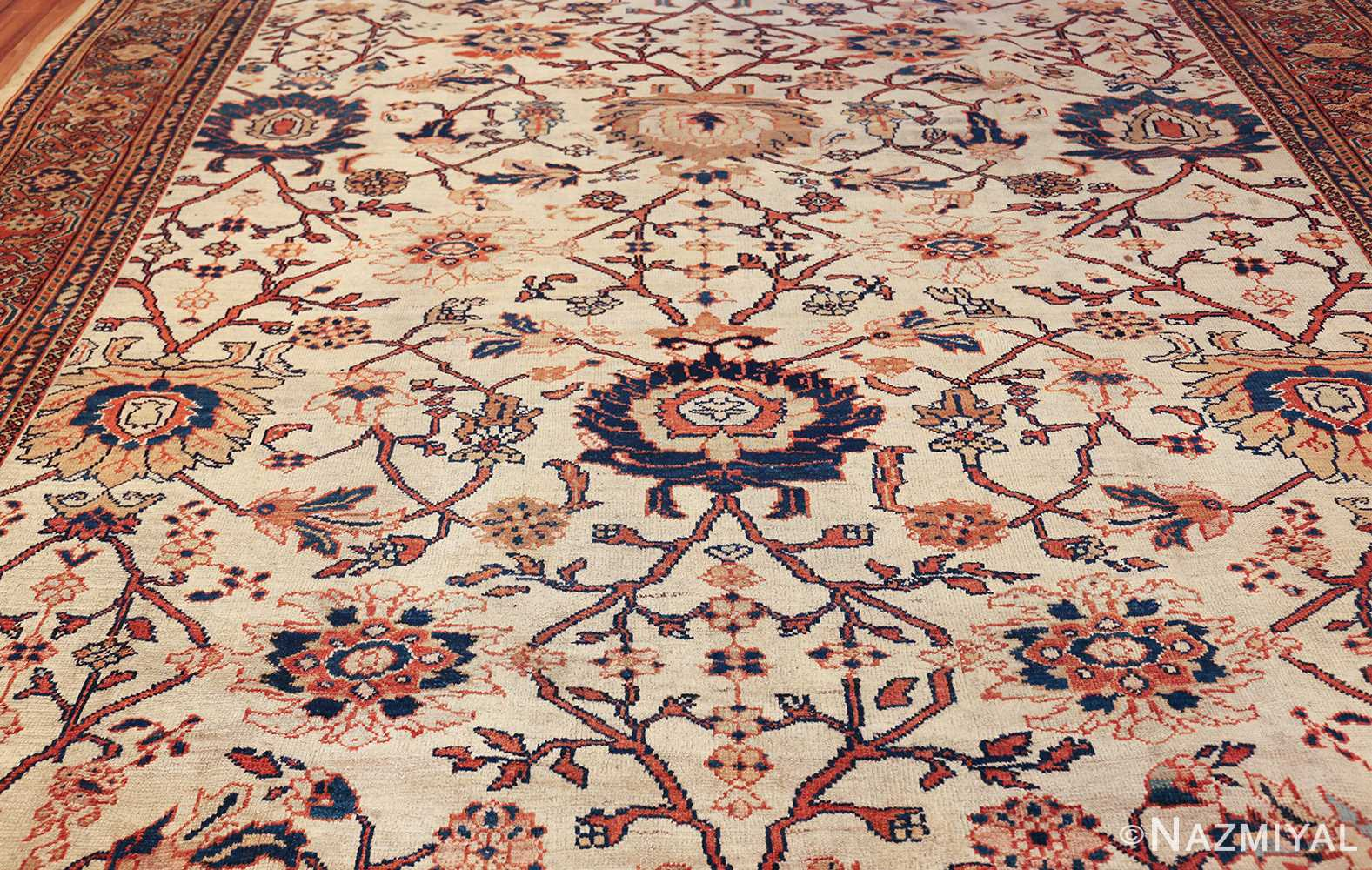 antique sultanabad persian carpet 50282 field Nazmiyal