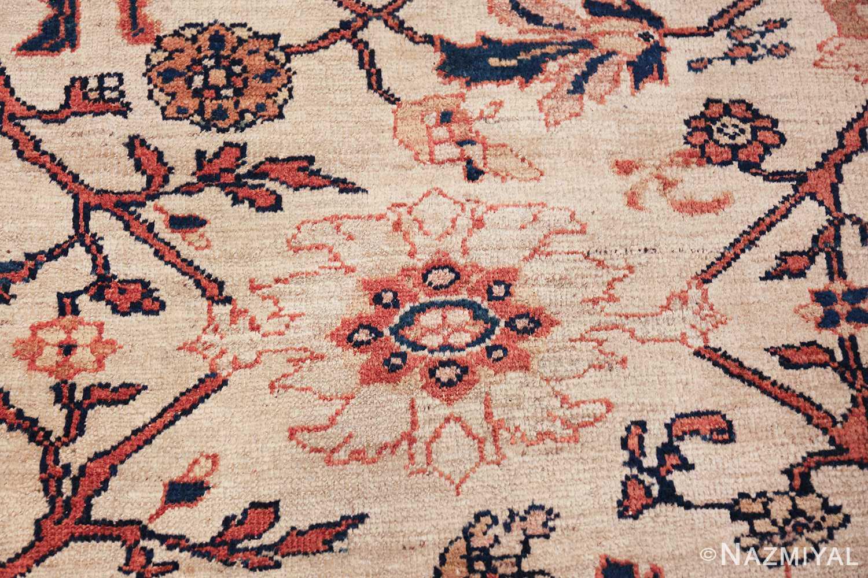 antique sultanabad persian carpet 50282 white Nazmiyal