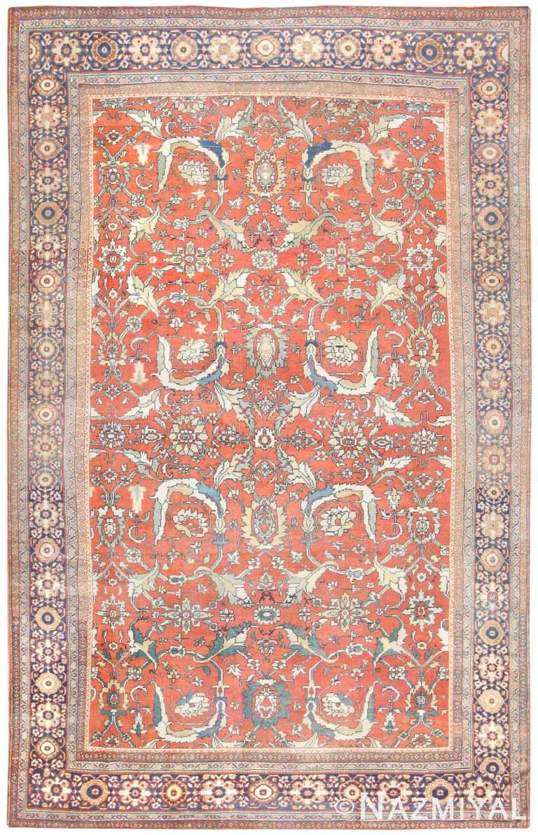 Antique Sultanabad Persian Rug 50126 Nazmiyal