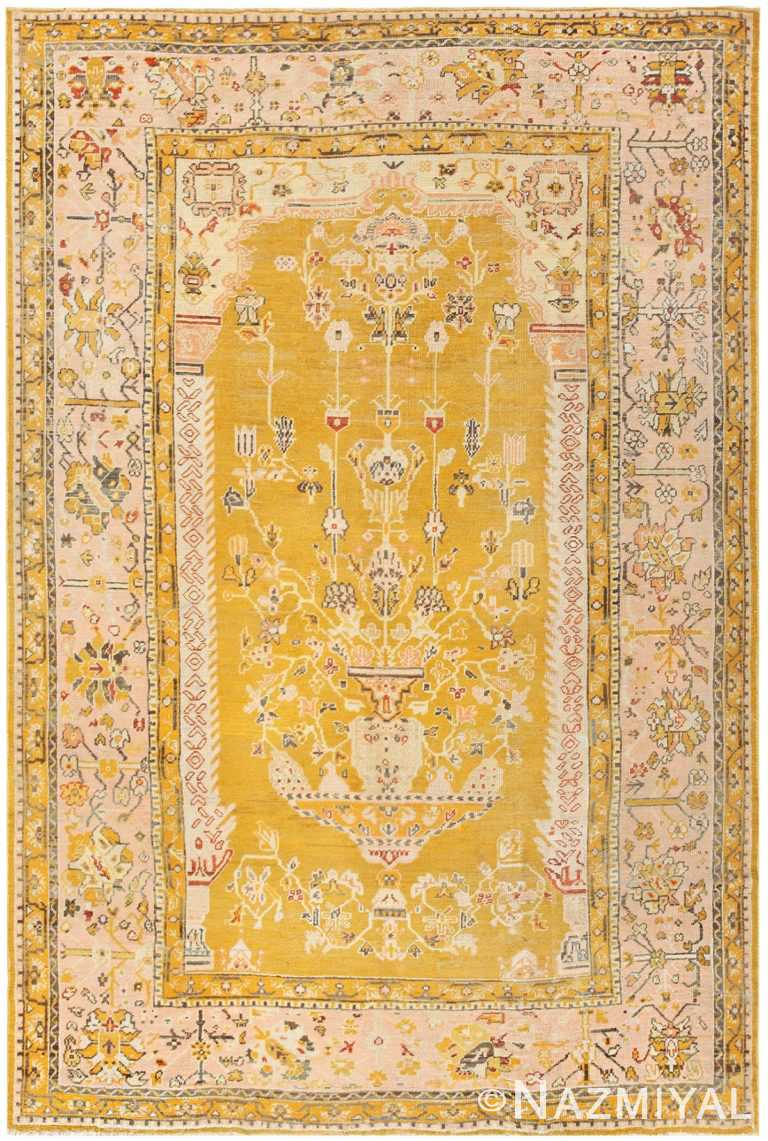 Antique Turkish Oushak Vase Design Carpet 50206 Nazmiyal Antique Rugs