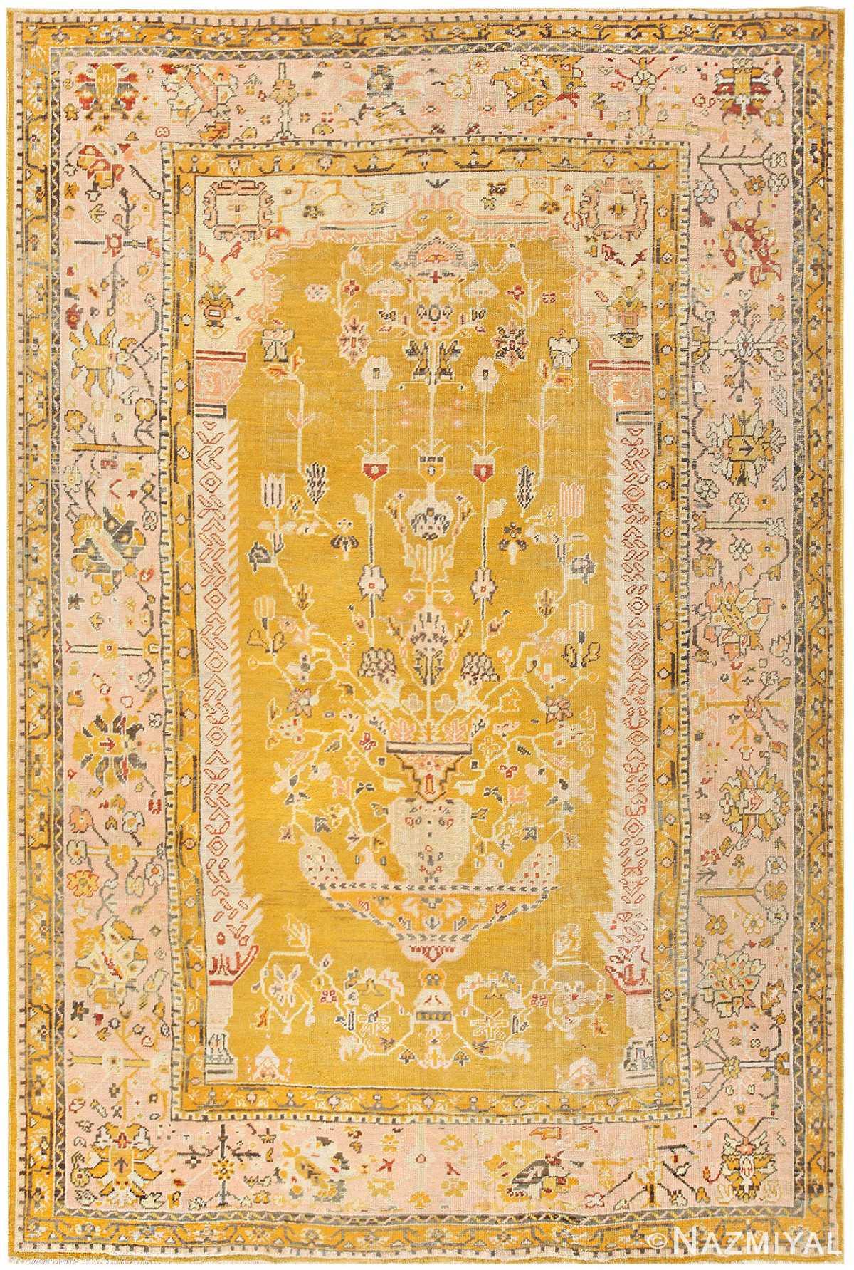 Antique Turkish Oushak Carpet 50206 By Nazmiyal