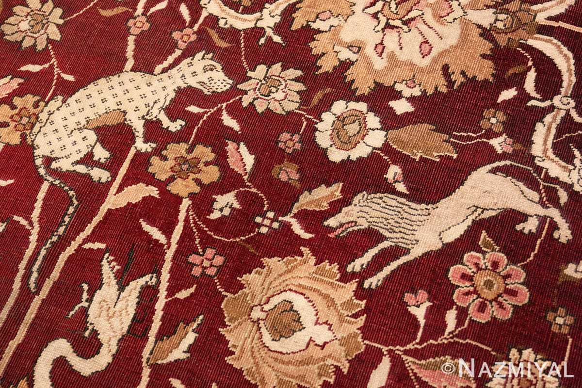Beast Room size Antique Indian agra rug 50250 by Nazmiyal