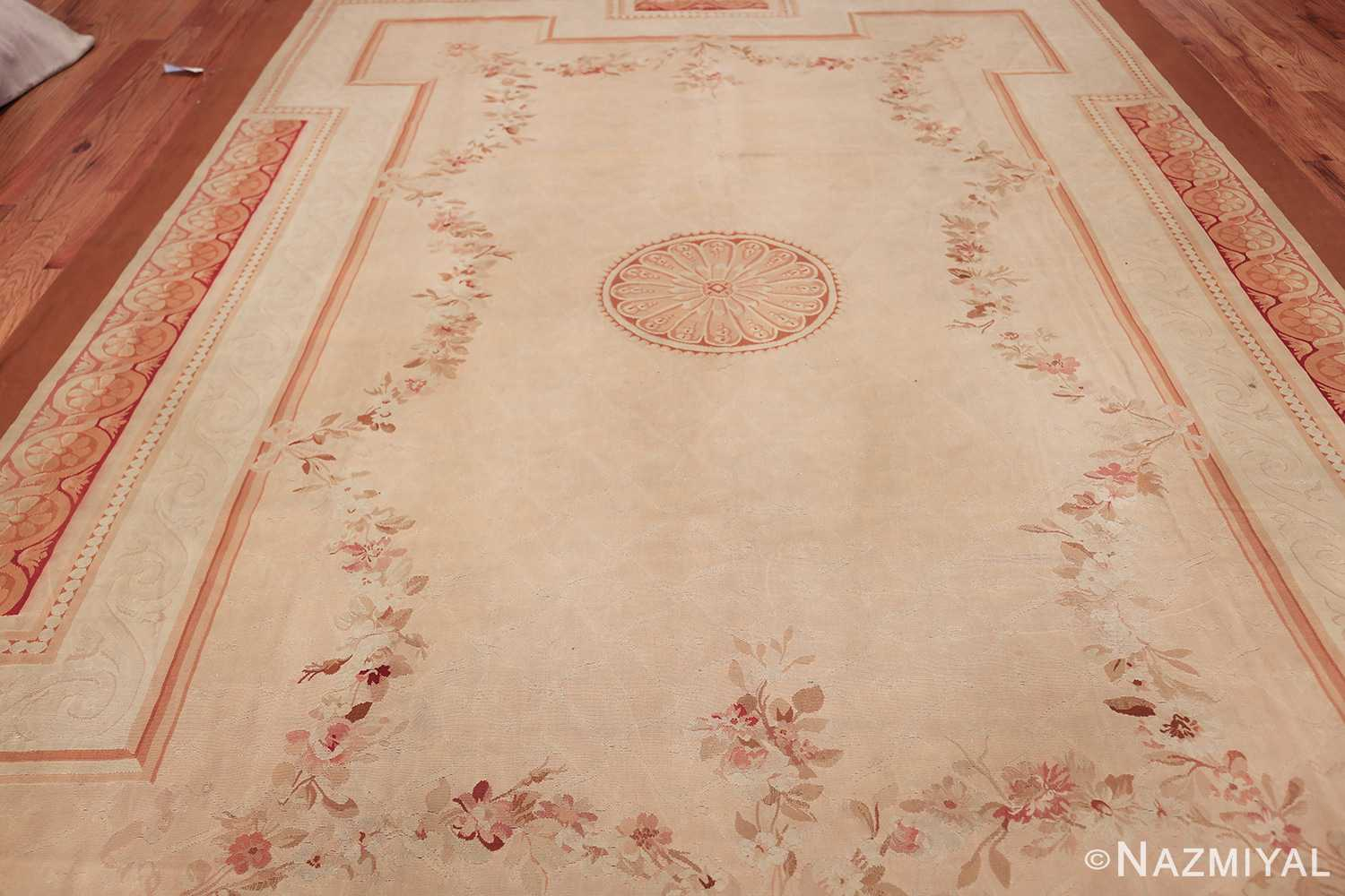 beautiful room size antique french aubusson rug 50295 field Nazmiyal