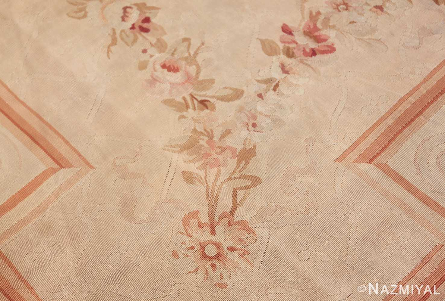 beautiful room size antique french aubusson rug 50295 lines Nazmiyal