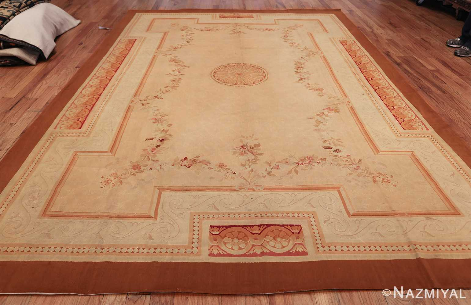 Antique French Aubusson Rug 50295 By Nazmiyal